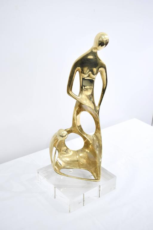 Brass and Lucite Abstract Sculpture 5
