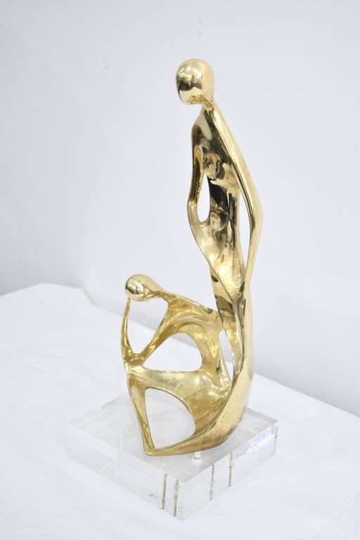 Brass and Lucite Abstract Sculpture 9