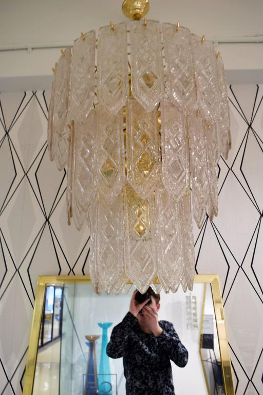 Pair of Venini Tiered Chandelier  6