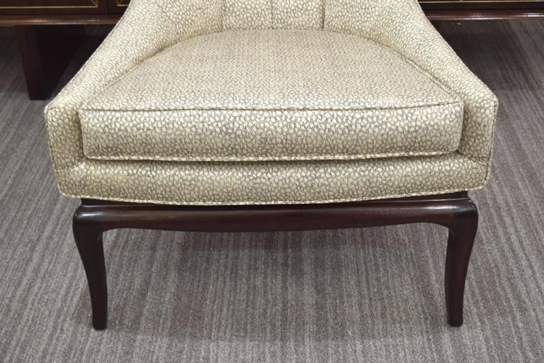 Pair of Tufted High Back Lounge Chairs 8