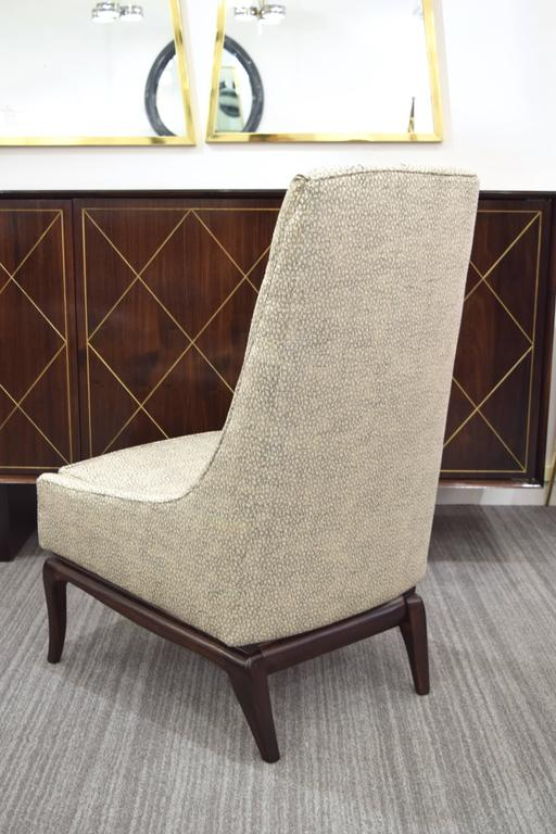 Pair of Tufted High Back Lounge Chairs 10