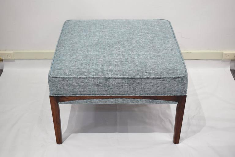 Mid-Century Modern Pair of 1960's Natural Walnut Ottomans OR Benches For Sale