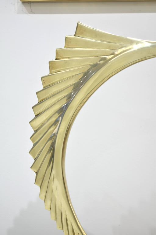 American Brass Marlin Sculpture For Sale