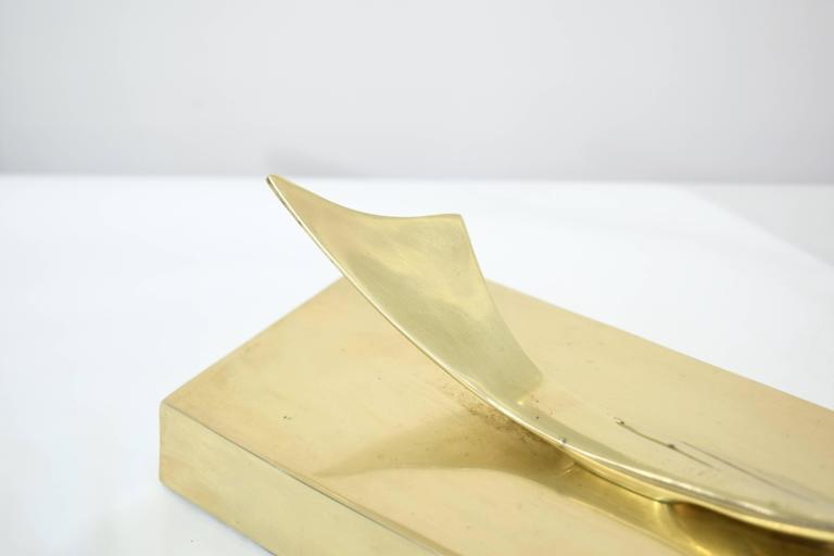 Mid-20th Century Brass Marlin Sculpture For Sale