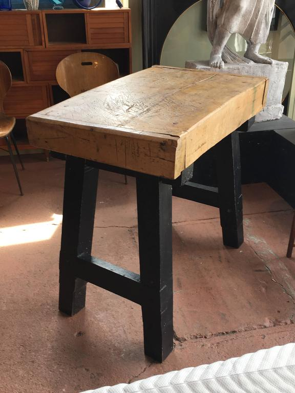 Butcher Block Table Kitchen Island At 1stdibs