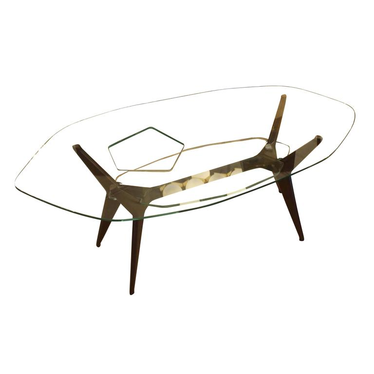 Unique Coffee Table in the Style of Ico Parisi, Italy, 1960s