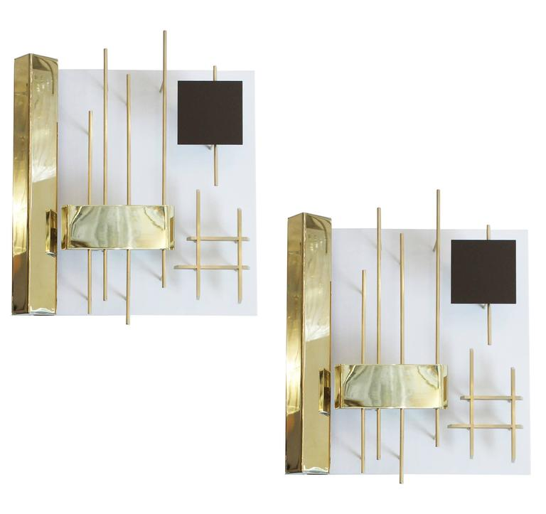 "Gio Ponti ""Quadri Luminosi"" Wall Lights Model 575"