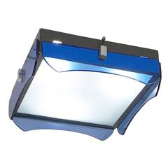 Square Veca Flush Mount with Blue Glasses, Italy, 1960s