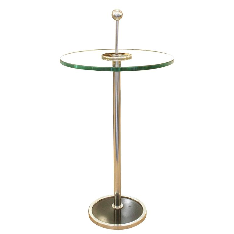 Small Chrome Side Table, Italy, 1970s