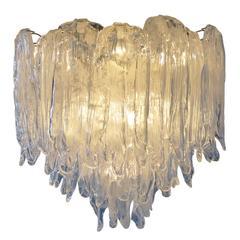 Cascading Murano Glass Chandelier, Italy, 1960