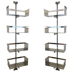 Pair of Saporiti Shelving Units by Vittorio Introini