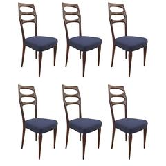 Set of Six Elegant Mid-Century Dining Chairs