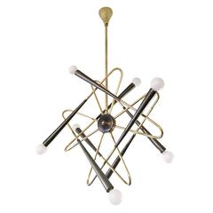 Whimsical Sputnik Chandelier Attributed to Stilnovo, Italy, 1960s