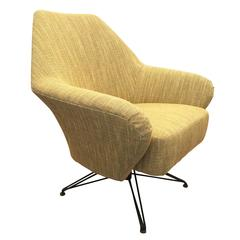 P32 Swivel Armchair by Osvaldo Borsani, Italy, 1956
