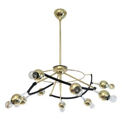 Orbital Stilnovo Attributed Chandelier, Italy, 1960s