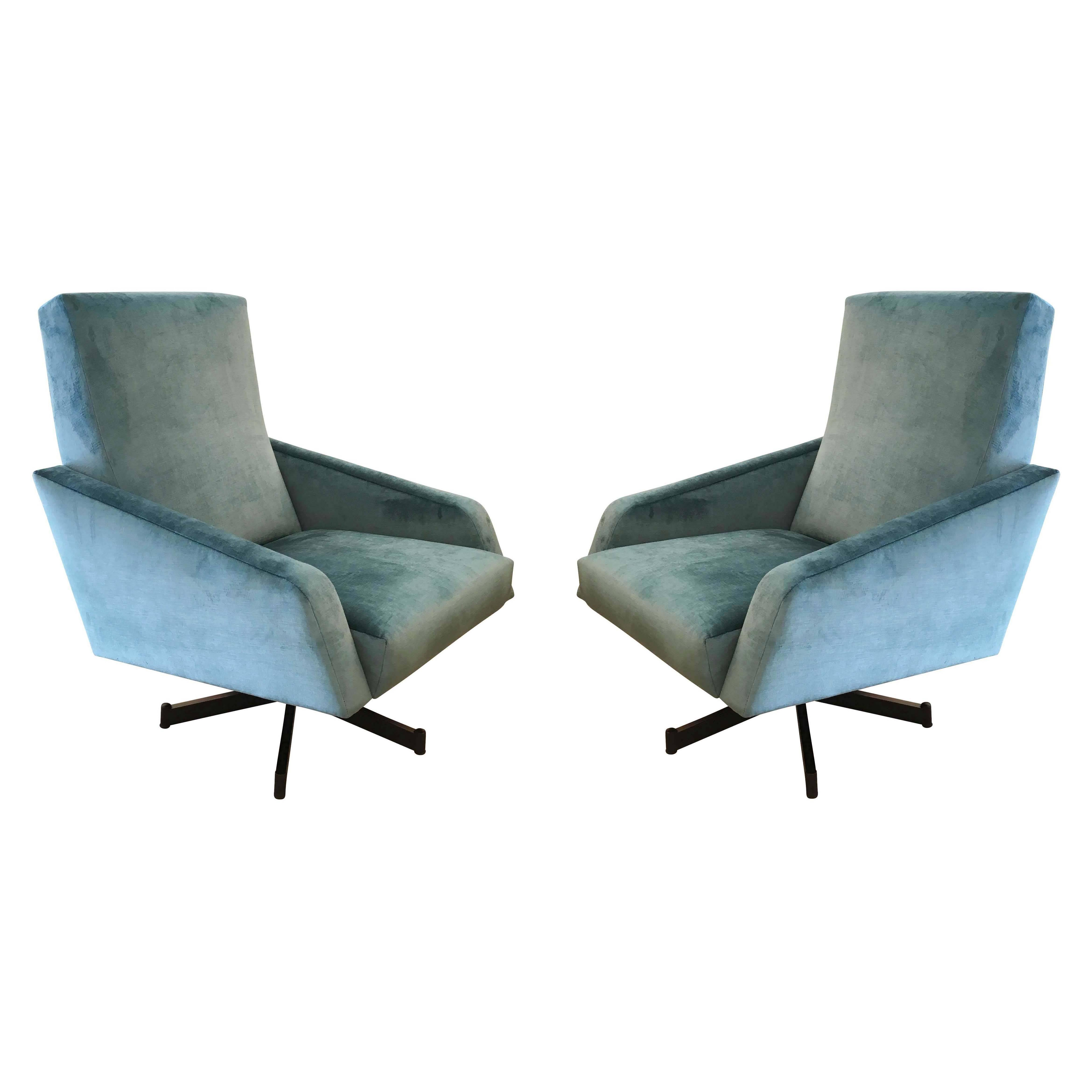 Mid century swivel rocker lounge chair for sale at 1stdibs