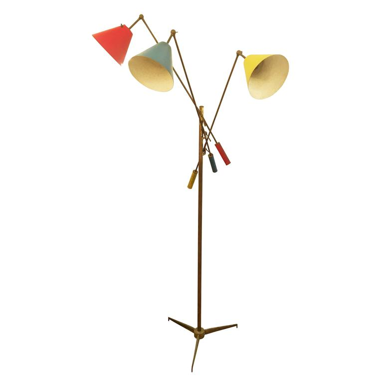 Triennale Floor Lamp by Arredoluce, Marked, 1947