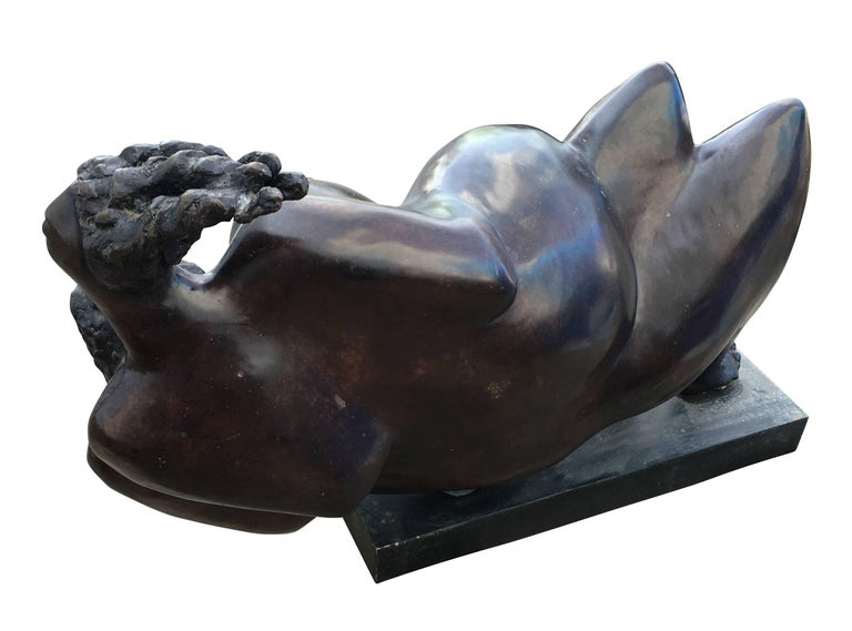 Large Oil Rubbed Bronze Sculpture In Excellent Condition For Sale In New York, NY