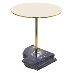 Lapis Lazuli and Brass Side Table by Studio Superego