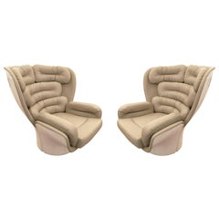 "Pair of ""Elda"" Swivel Chairs by Joe Colombo, Italy, 1963"