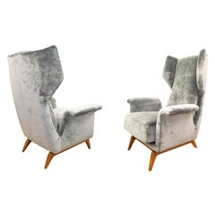 Pair of Cassina Lounge Chairs, Italy, 1960s