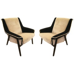 Pair of Midcentury Armchairs in the Manner of Gianfranco Frattini