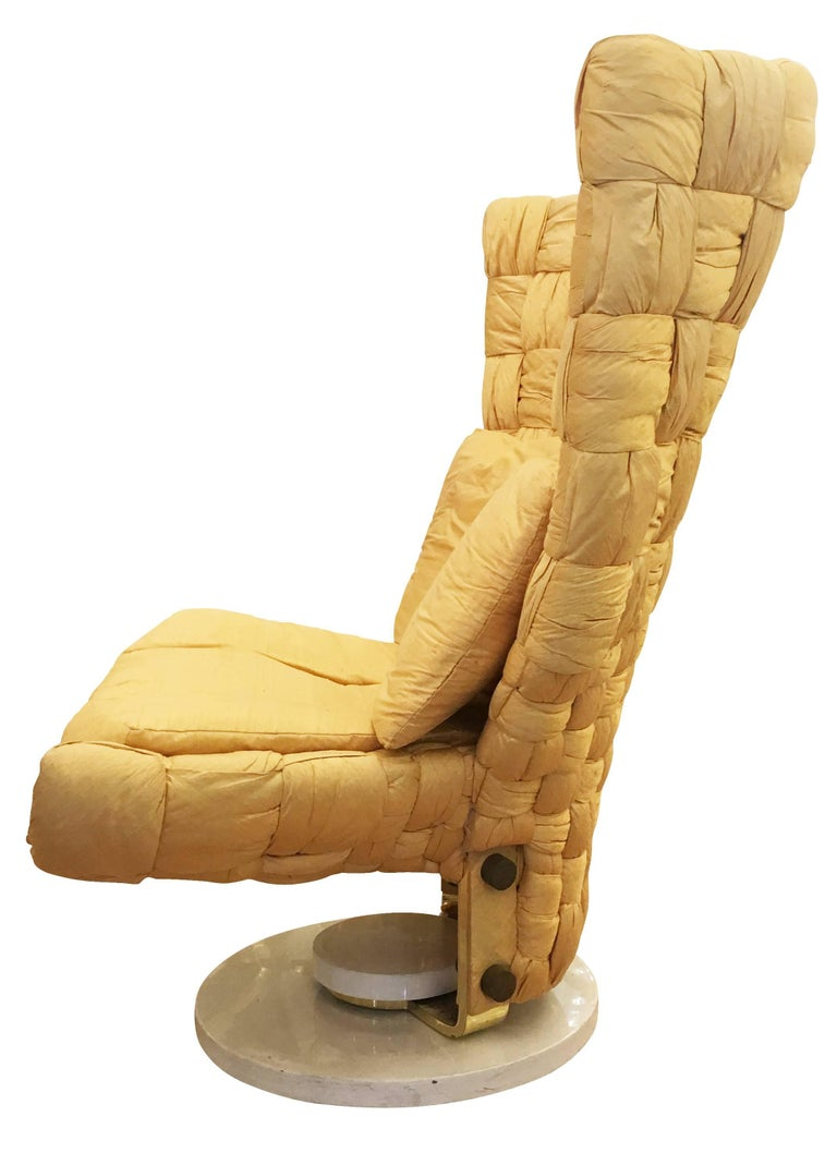 Italian Swivel Lounge Chair by Marzio Cecchi For Sale