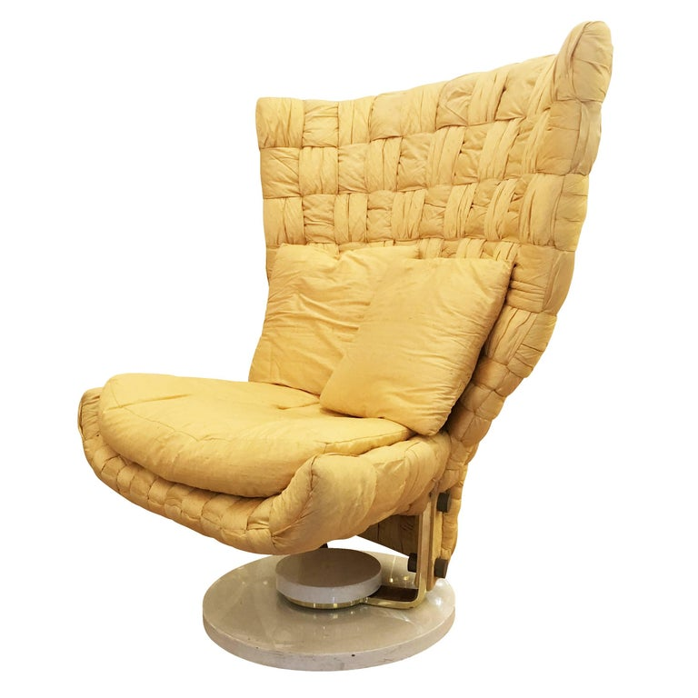 Swivel Lounge Chair by Marzio Cecchi For Sale
