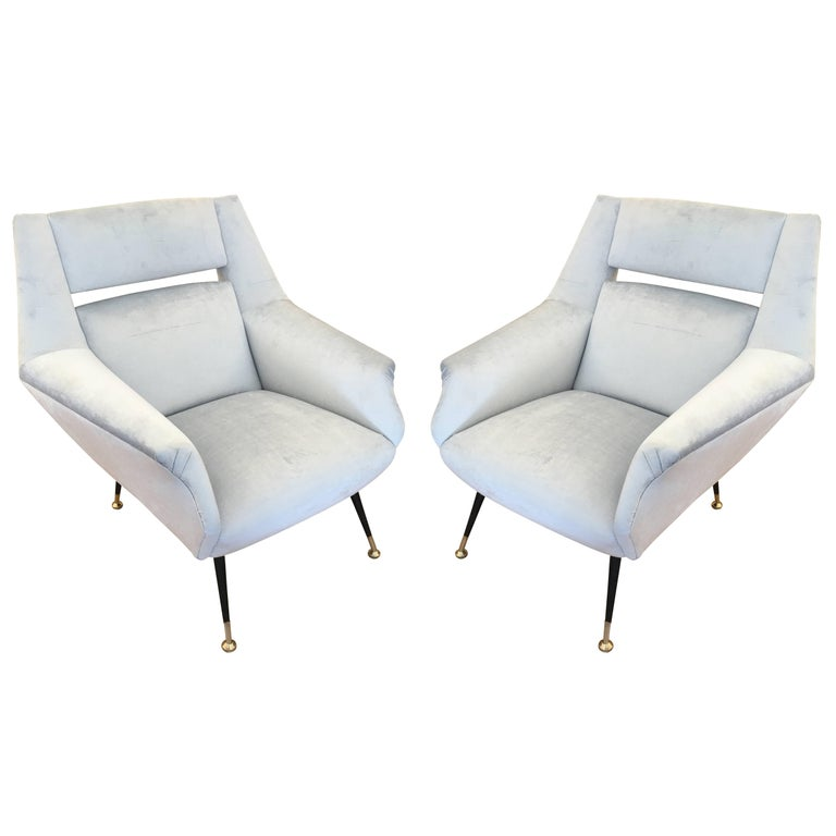 Italian Midcentury Armchairs in the Style of Gio Ponti