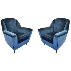 Pair of Large Italian Midcentury Armchairs
