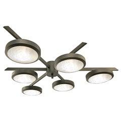 """Geometria Sospesa Sei"" Ceiling Light, Versione Due, Black Bronze Edition"
