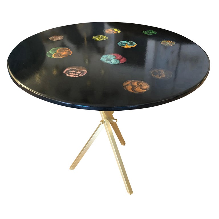 """""""Viole"""" Fornasetti Side Table, Italy, 1950s"""