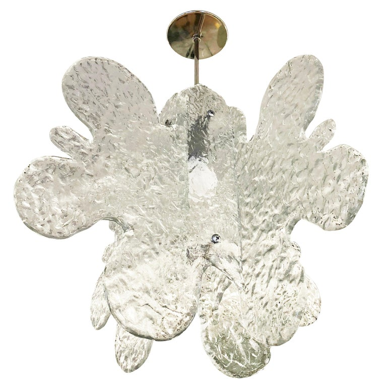 Organic Murano Glass Pendant by Mazzega