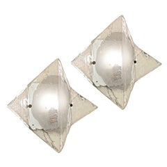 Murano Glass Sconces or Flush Mounts by Mazzega