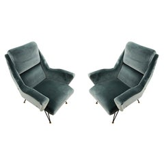 Pair of Sculptural Mid-Century Armchairs