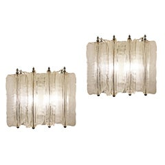 Pair of Murano Glass Sconces by Lumenform