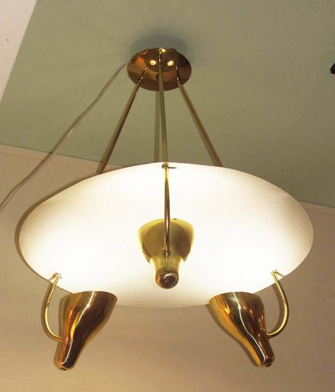 Gino Sarfatti Style Chandelier for Lightolier 3
