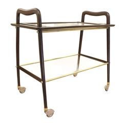 Ico Parisi Bar Cart with Removable Tray, Italy, 1960s