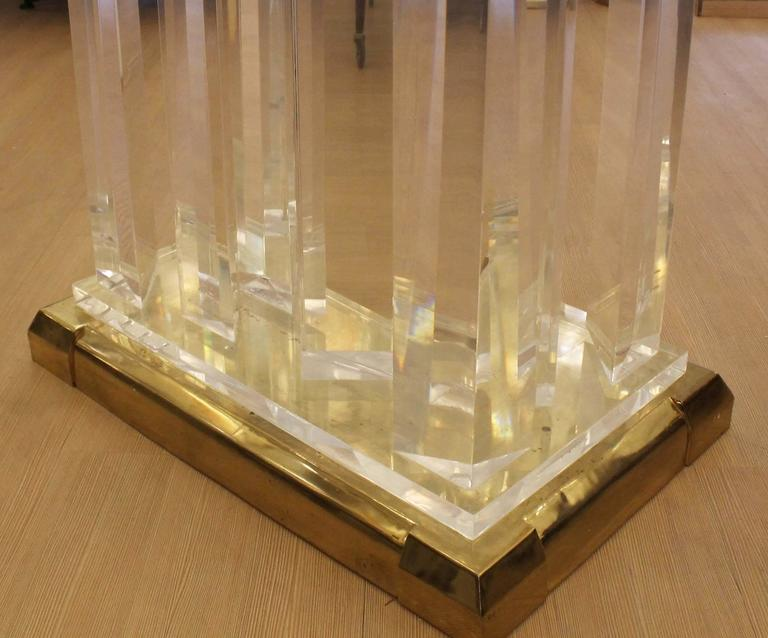 Lucite Dining Table in the Style of Jeffrey Bigelow For