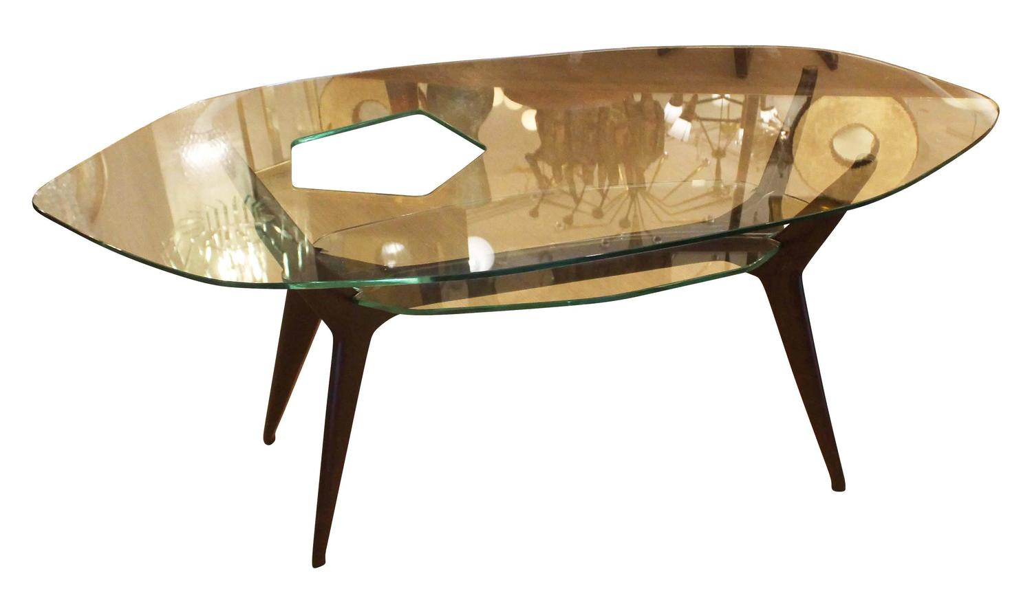 unique coffee table in the style of ico parisi italy 1960s for sale at 1stdibs. Black Bedroom Furniture Sets. Home Design Ideas