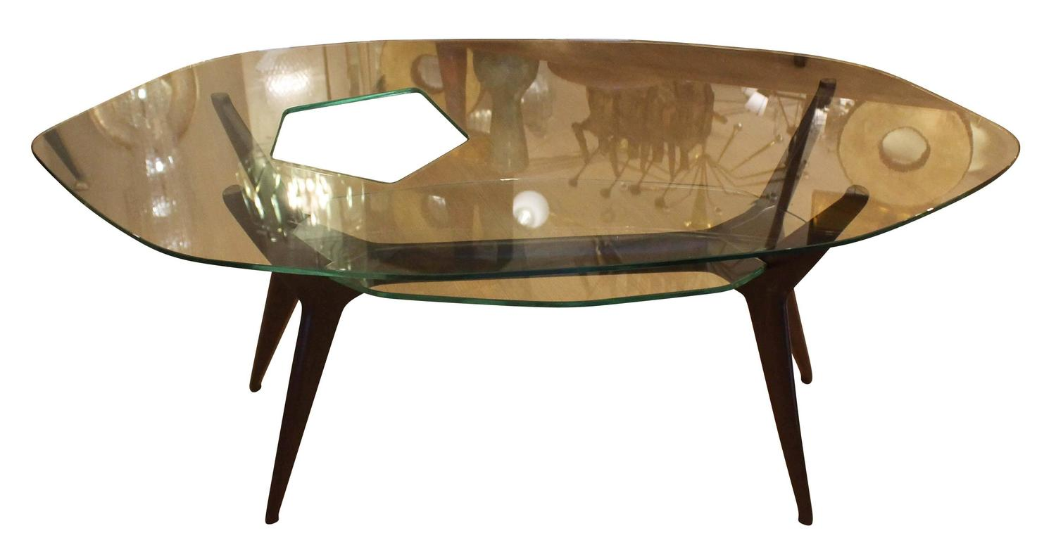 Unique Coffee Table In The Style Of Ico Parisi Italy 1960s For Sale