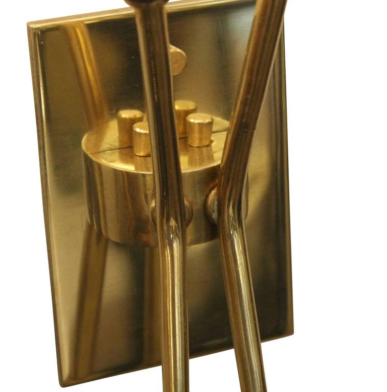 Pair of Two Light Stilnovo Style Sconces, Italy, 1960s 5