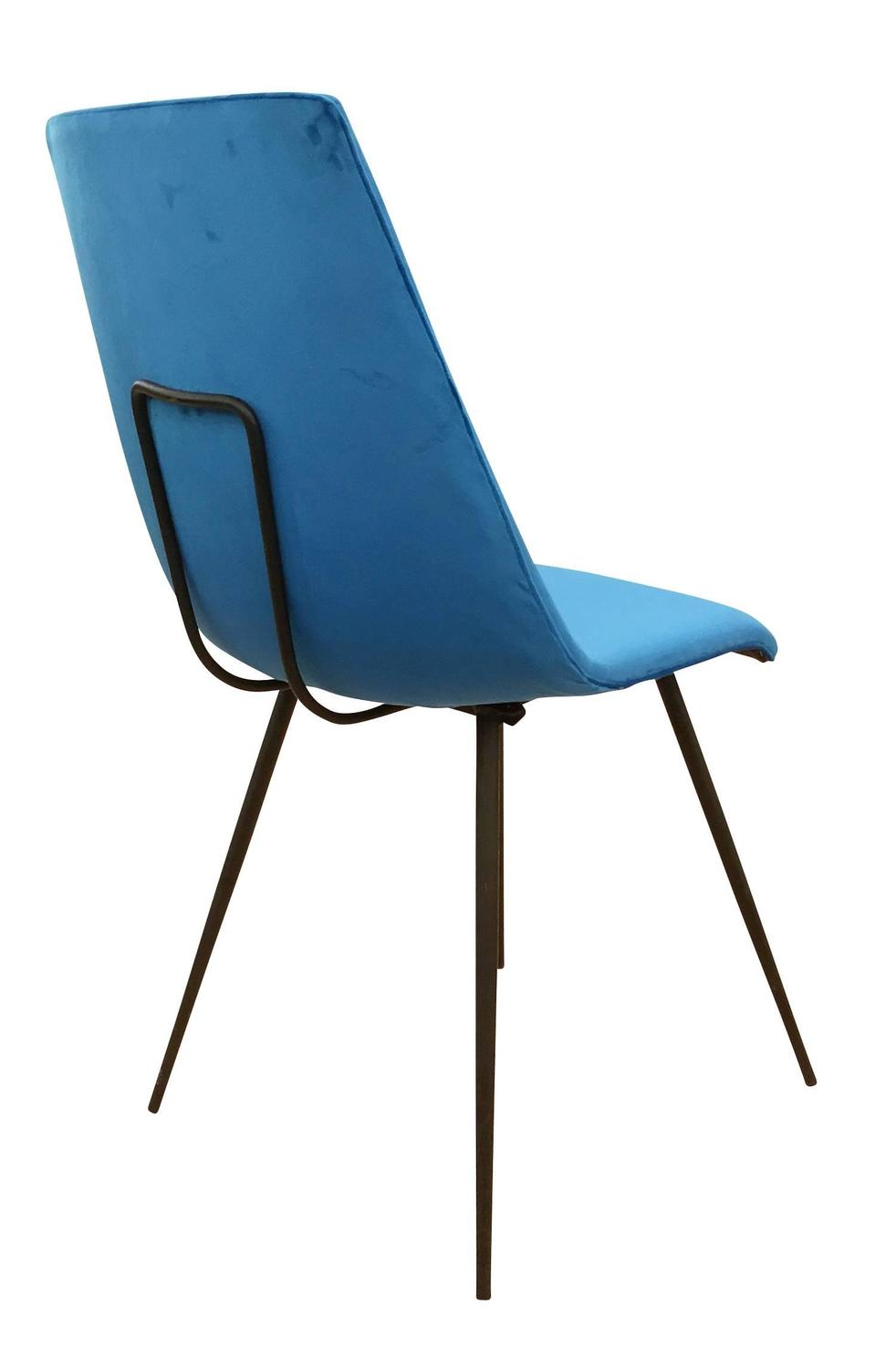 Set of six sleek mid century dining chairs for sale at 1stdibs for Sleek dining room furniture