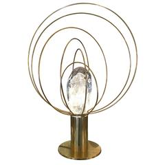 """Barnaba"" Brass Table Lamp by Angelo Brotto for Esperia for Gaspare Asaro"