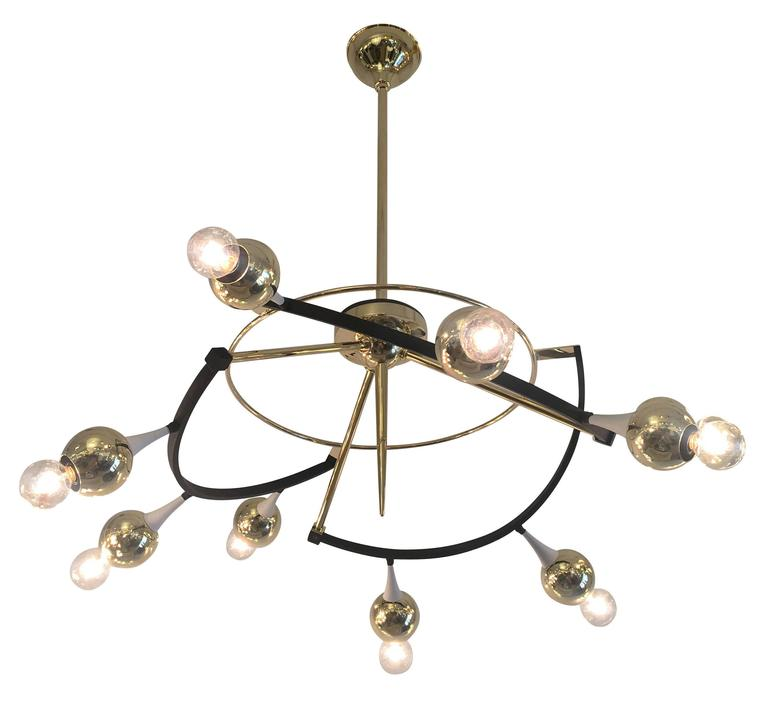 Orbital Stilnovo Chandelier, Italy, 1960s For Sale 1