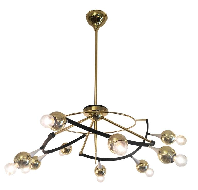 Orbital Stilnovo Chandelier, Italy, 1960s For Sale 2