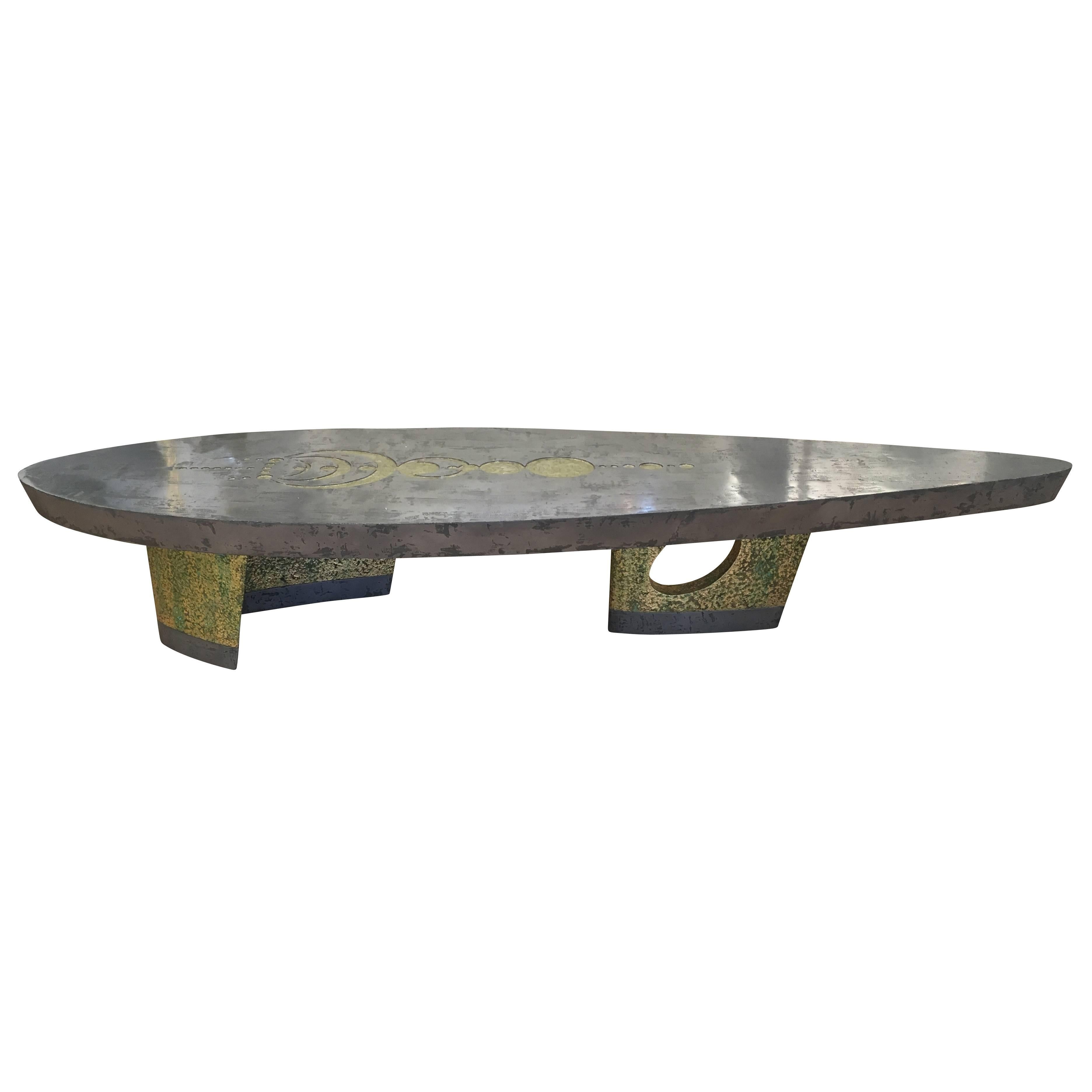Organic Modern One Of A Kind U201cNaveu201d Coffee Table For Sale