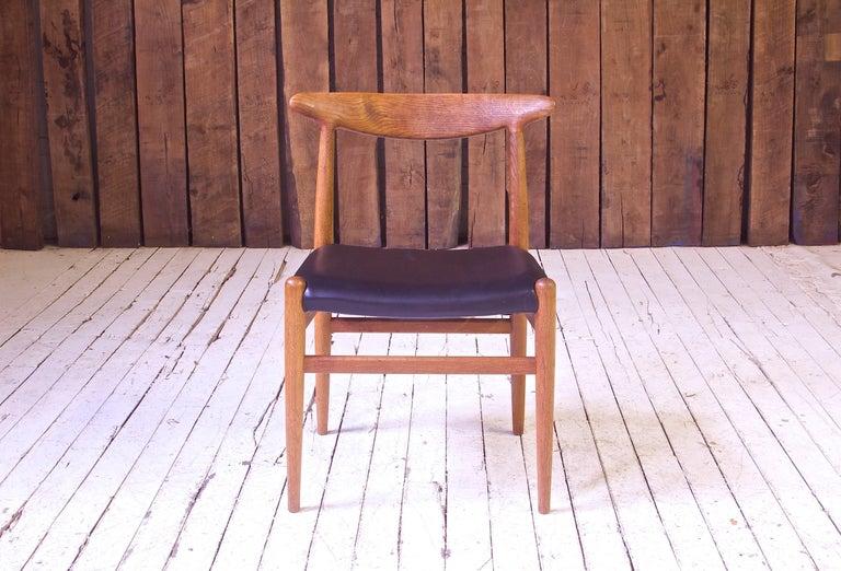 Scandinavian Modern Vintage Hans Wegner for C.M. Madsens 'W2' Chair in Oak; Denmark, 1950s For Sale
