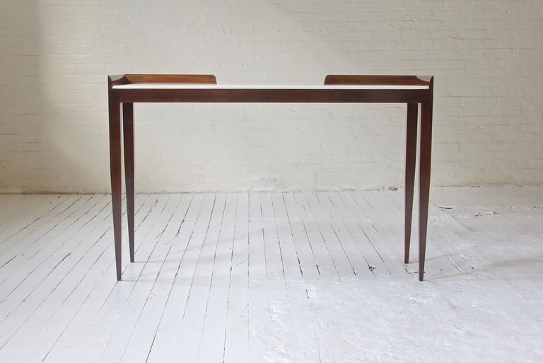 Mid-Century Modern Console Table in the Style of Gio Ponti