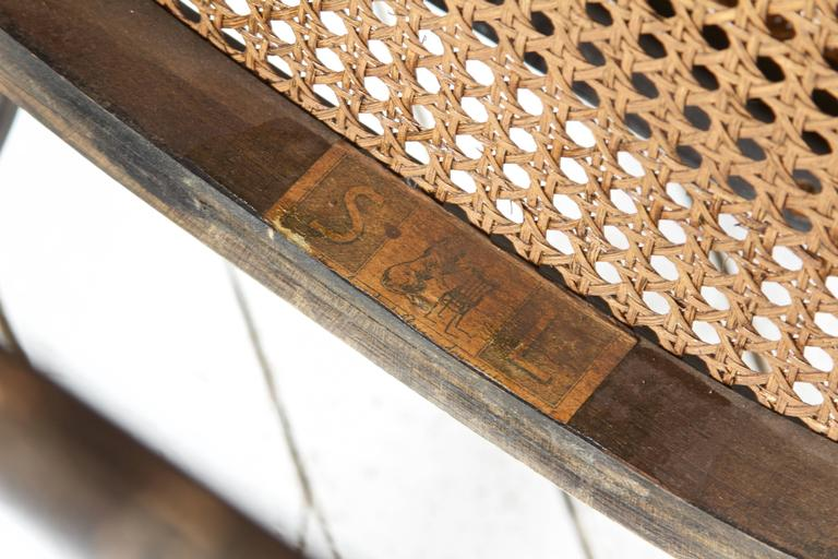Italian Antique Thonet Model #10 Bentwood Rocking Chair; Salvatore Leone, circa 1890s